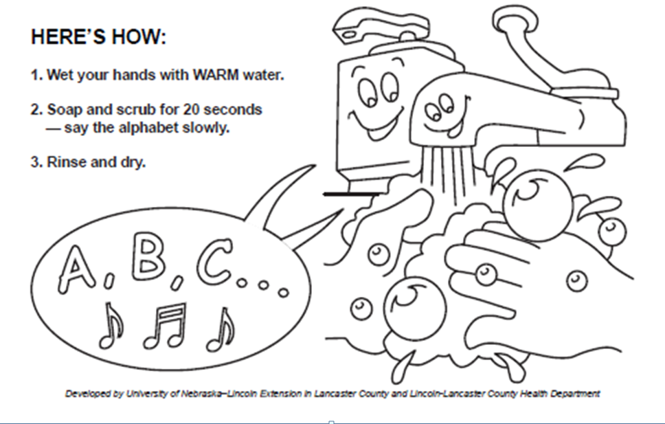washing your hands coloring pages - photo#23