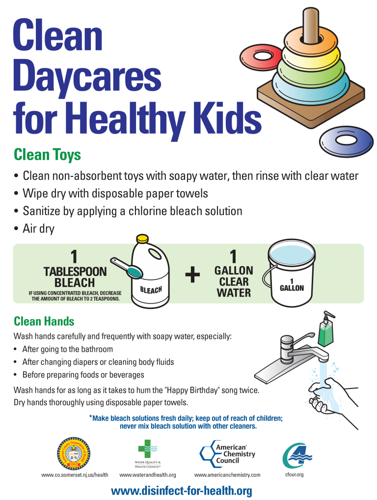 Disinfect toys infographic