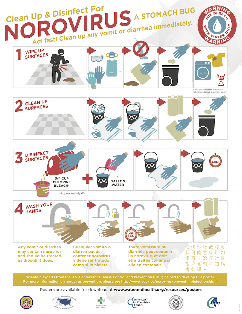 Norovirus Cleanup Poster